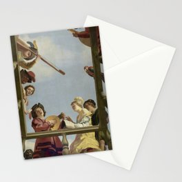 Gerard van Honthorst - Musical Group on a Balcony Stationery Cards