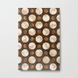 Orbiting Satellites - An Organic Marbled Pattern Metal Print