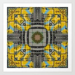 Street Art Kaleidoscope Art Print
