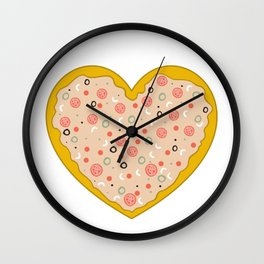 Pizza is Love Wall Clock