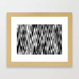 WAVY #1 (Black, White & Grays) Framed Art Print