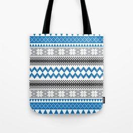 Winter Blue Pattern Tote Bag