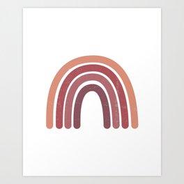 Abstract Terracotta Rainbow Art Print