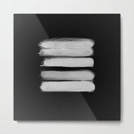 Stripes - No Comment #2 #minimal #painting #decor #art #society6 Metal Print