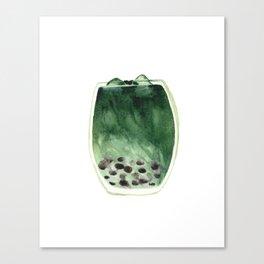 Matcha Bubble Tea Canvas Print