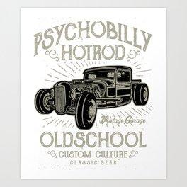 Psychobilly Hot Rod Vintage Garage Art Print