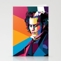 johnny depp Stationery Cards featuring Johnny Depp by Rawandarts