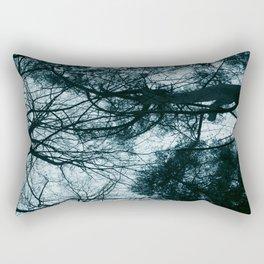 Blue Winter Trees Rectangular Pillow