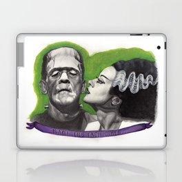 Watercolor Painting of Frankenstein & Bride Laptop & iPad Skin