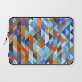 Triangle Pattern no.18 blue and orange Laptop Sleeve