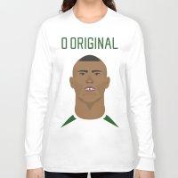 ronaldo Long Sleeve T-shirts featuring Ronaldo 2002 - O Original by Patrick Design