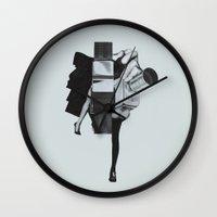 wisconsin Wall Clocks featuring Wisconsin Avenue by Joe Castro