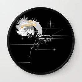 White Hair Girl Wall Clock