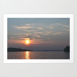 Sundown on Pelican Lake Art Print