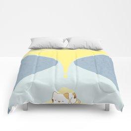 Cat In The Sand Clock Comforters