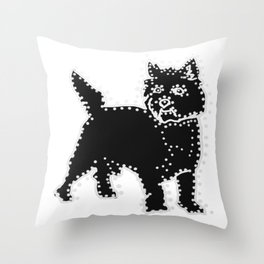 I have Connected the CAIRN TERRIER Doggy Dots! Throw Pillow