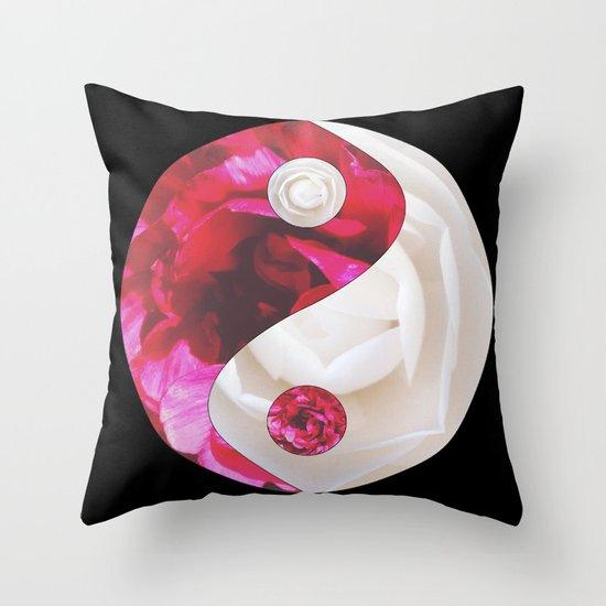 Flower Yin Yang Throw Pillow