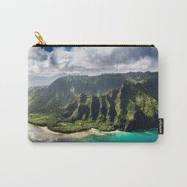 Na Pali Coast Aerial of Kauai Hawaii Carry-All Pouch