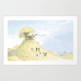 Pirate Tree House Art Print
