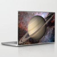 saturn Laptop & iPad Skins featuring Saturn by Hoeroine