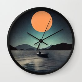 One lonely night Wall Clock