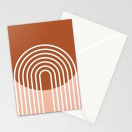 Mid Century Modern Geometric 2 Stationery Cards