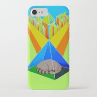 racoon iPhone & iPod Cases featuring Crystal Racoon by Cariann Dominguez