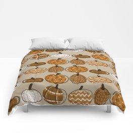 Pumpkin Party in Almond Comforters