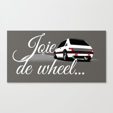 Joie de Wheel Canvas Print