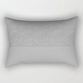 Combo light grey abstract pattern . Rectangular Pillow