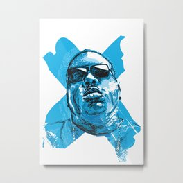 Digital Drawing 33 - Notorious B.I.G. in Blue Metal Print
