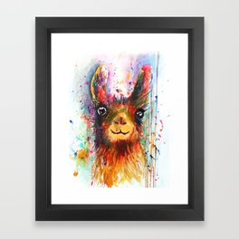 Llama love Framed Art Print