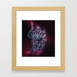 Medieval Knight Templar in Purple Smoke Framed Art Print