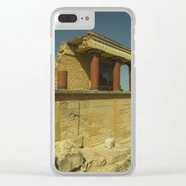 Knossos Palace Clear iPhone Case