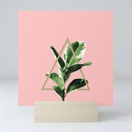 Ficus Elastica Geo Finesse #1 #tropical #foliage #decor #art #society6 Mini Art Print