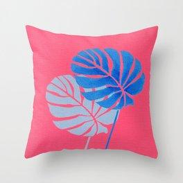 Palm Leaf Shadow Throw Pillow