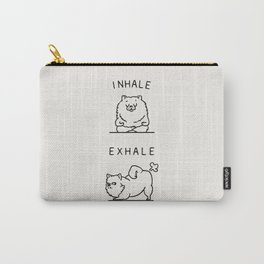 Inhale Exhale Pomeranian Carry-All Pouch
