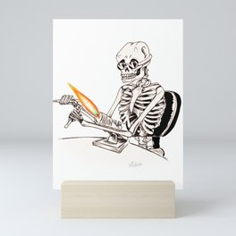 Skelly Flamerworker Mini Art Print