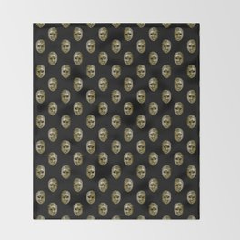 Venetian Mask Motif Pattern Throw Blanket