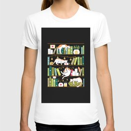 Library cats T-shirt