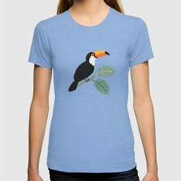 Toucan birds and palm leaves in the jungle T-shirt