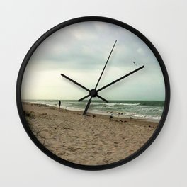 Walk on the Beach Wall Clock