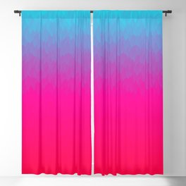 Blue purple and pink ombre flames Blackout Curtain