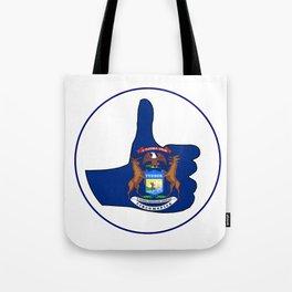 Thumbs Up Michigan Tote Bag