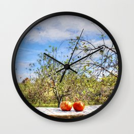 The Apple Orchard Wall Clock