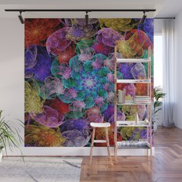 Floral Spiral Wall Mural