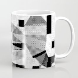 8bit B&W Abstract Coffee Mug