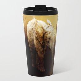 The cute elephant calf Travel Mug