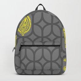 PAISLEY DIAMOND - GREY/YELLOW Backpack