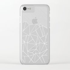 Ab Lines 45 Black Clear iPhone Case